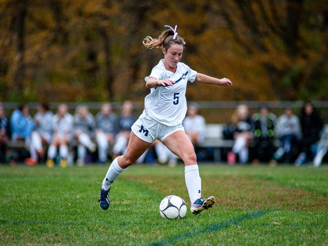 Olivia Riccio and the Morgan girls' soccer team are hosting Old Lyme for their 2020 season opener. File photo by Susan Lambert/Harbor News