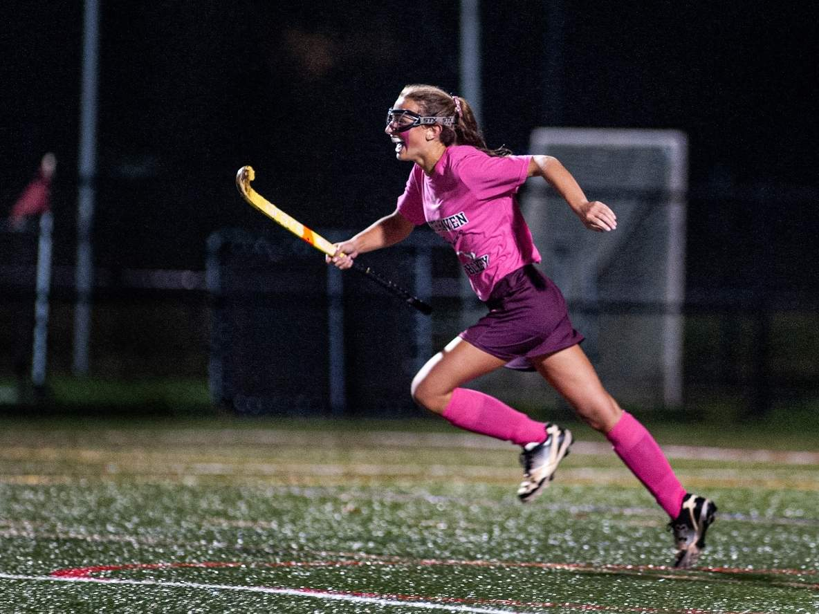 The North Haven field hockey team is playing a road game versus Amity in its first matchup of the fall campaign. File photo by Susan Lambert/The Courier