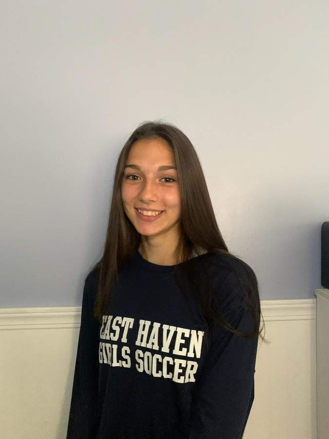Emily Mazzucco is eager to begin her junior season as a stalwart on defense for the East Haven girls' soccer team. Photo courtesy of Emily Mazzucco