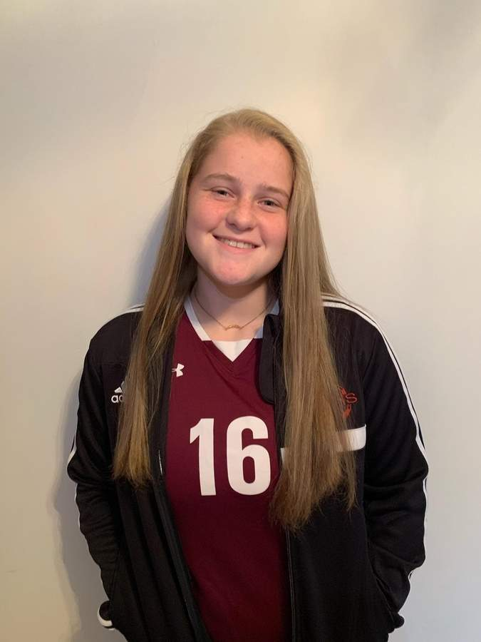 Carly Fresher is looking forward to leading the North Haven girls' soccer team as a senior captain this fall. Carly was also named a captain for the North Haven girls' basketball squad. Photo courtesy of Carly Fresher