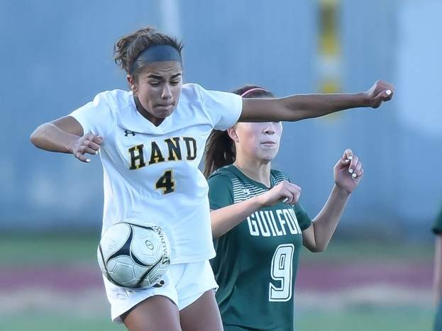 Sophomore Maya Howard and the Tigers shut out East Haven by a 2-0 score in their lone game of the slate last week. File photo by Kelley Fryer/The Source