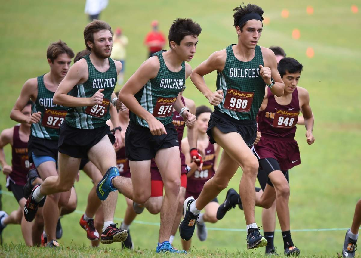 Bretton Garrick (973), Caleb Harris (975), Michael Massotti (976), Justin Shiffrin (980)  Photo by Kelley Fryer/The Courier