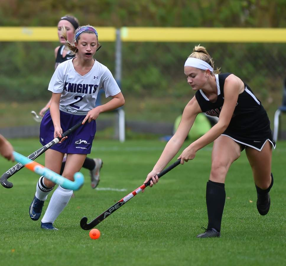 Valley Regional field hockey tied Westbrook 1-1 at Westbrook High School. Lily Grow  (3) Photo by Kelley Fryer/The Courier