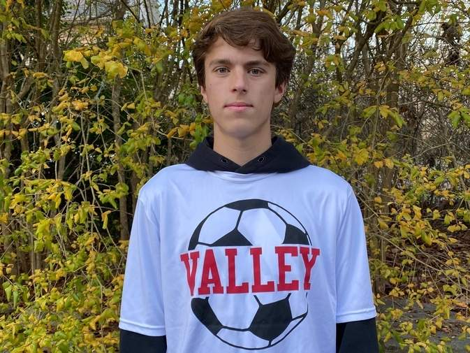Senior Cameron Ruel was steady as a center attacking midfielder for the Valley Regional boys' soccer team this year, helping the Warriors go 9-3 on the season. Cameron was also called on to slide into the forward position and fit in perfectly in that role.  Photo courtesy of Cameron Ruel