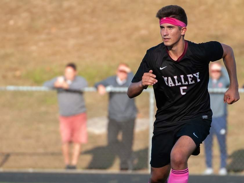 Senior captain Michael Brooks and the Valley Regional boys' soccer squad turned in a 7-3 record this year. Brooks earned All-Shoreline Conference Second Team honors with two goals to his credit as a defenseman. File photo by Kelley Fryer/The Courier