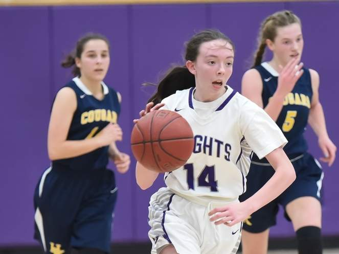 Junior guard Jami Sacco and the Westbrook girls' basketball squad are hoping to begin practicing on Jan. 19, which is the tentative date for a winter preseason. Sacco led the Shoreline Conference in scoring last season. File photo by Kelley Fryer/Harbor News