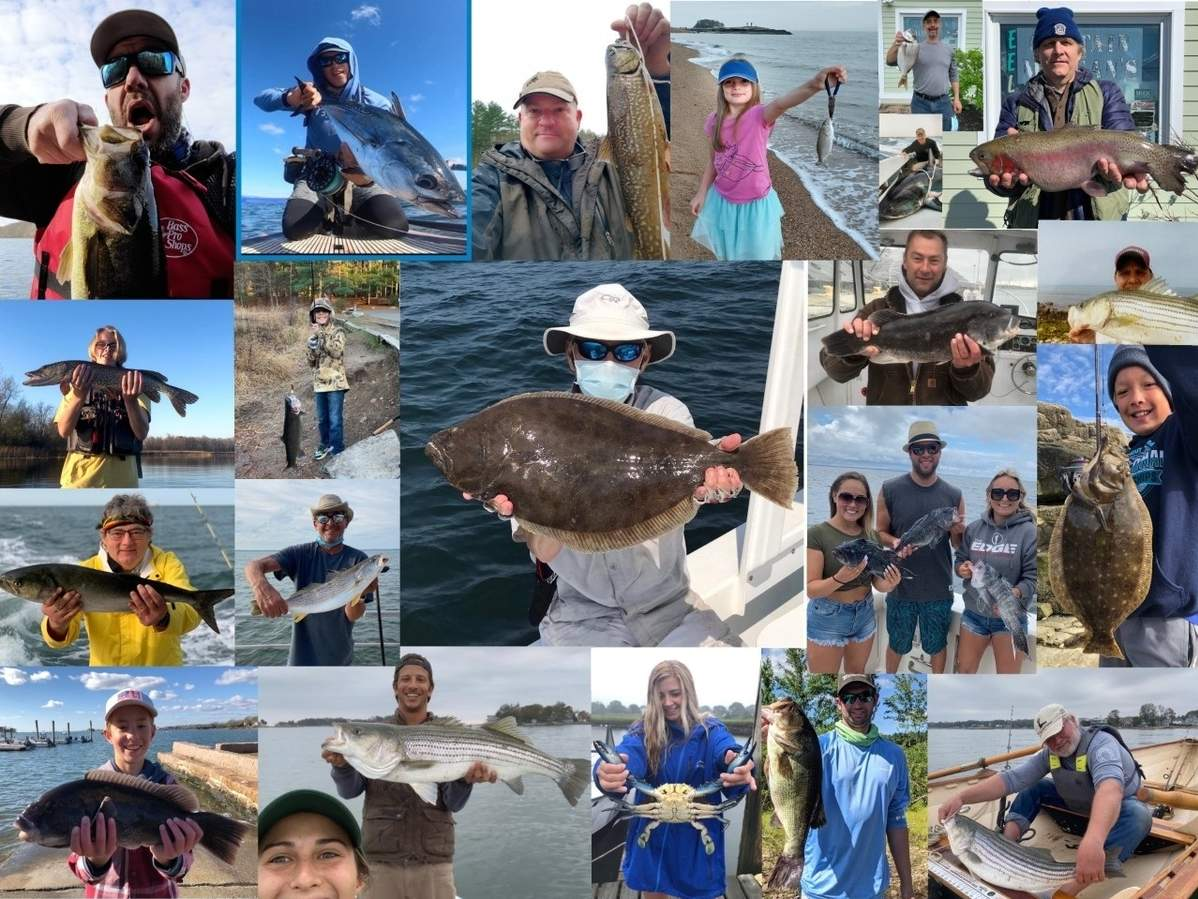 Despite all the challenges, there were still plenty of anglers who hit the water to wet a line at some of Connecticut's popular fisheries in 2020. Photo illustration courtesy of Captain Morgan