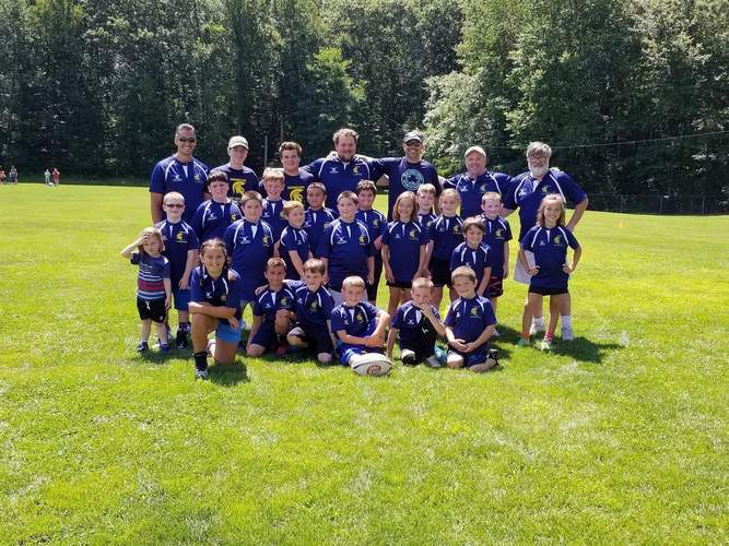 The Shoreline Spartans rugby program features a K-8 flag team for both boys and girls. Photo courtesy of Mike Meyer