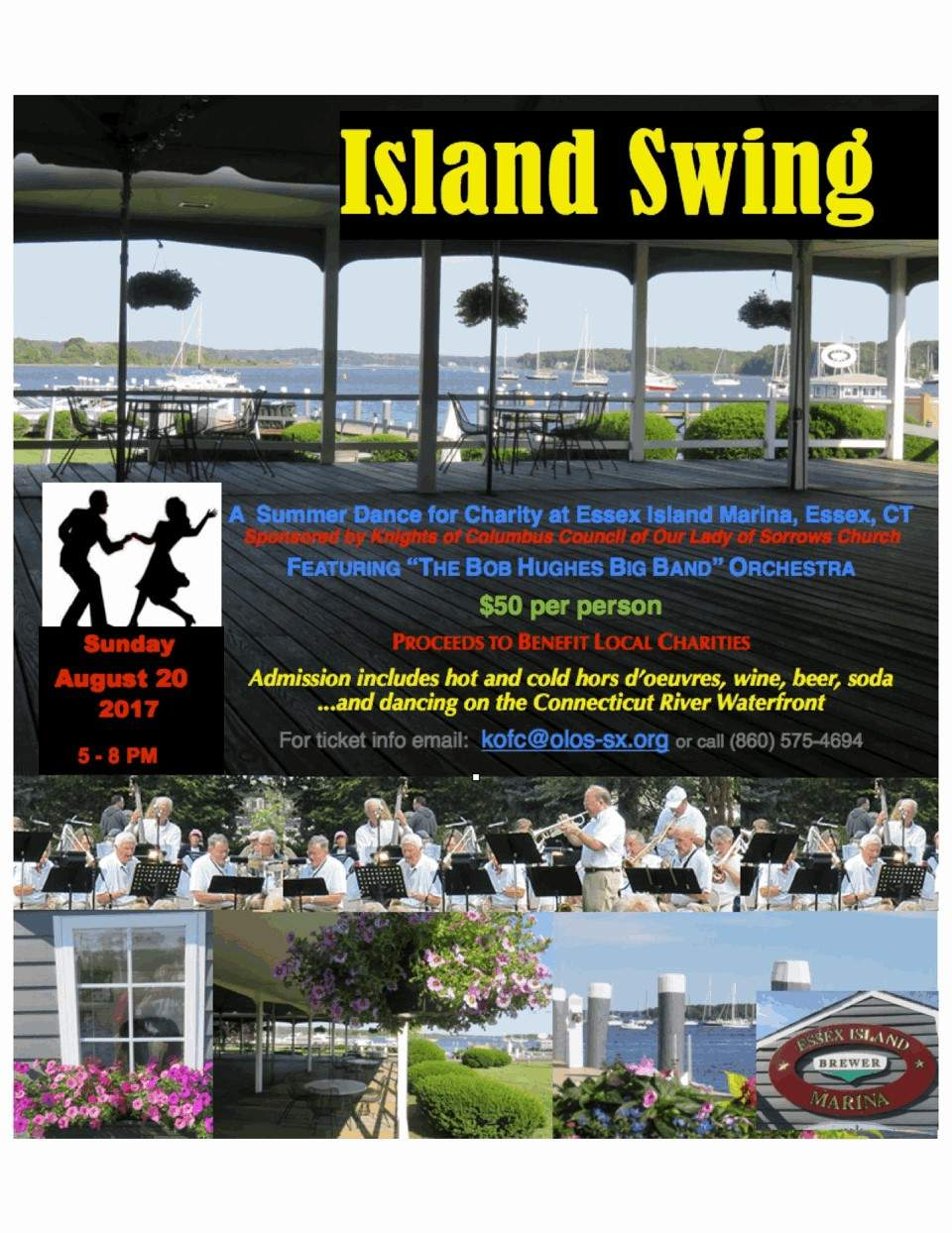Big Band Swing Music at Brewers Essex Island Marina