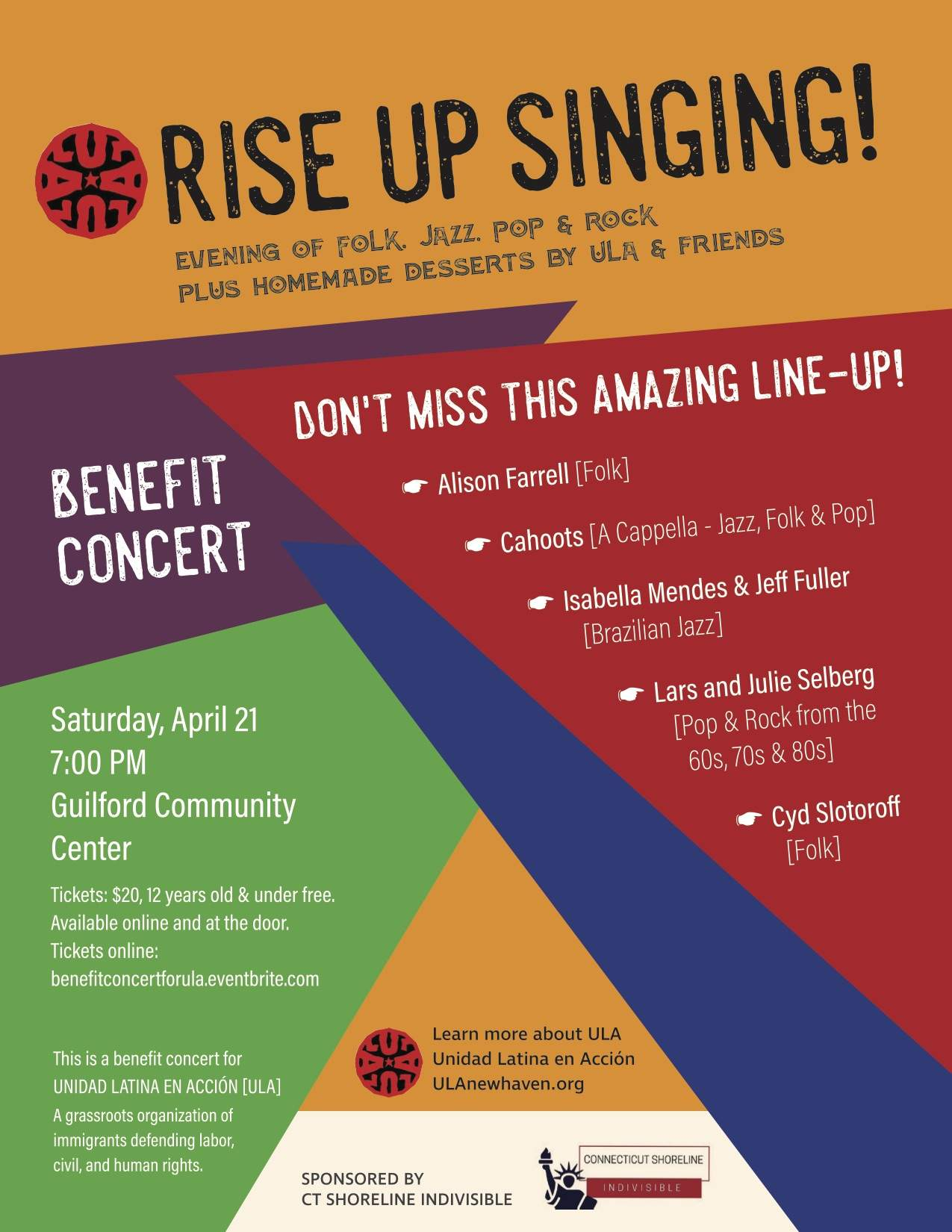 Rise Up Singing! An evening of Folk, Jazz, Pop and Rock