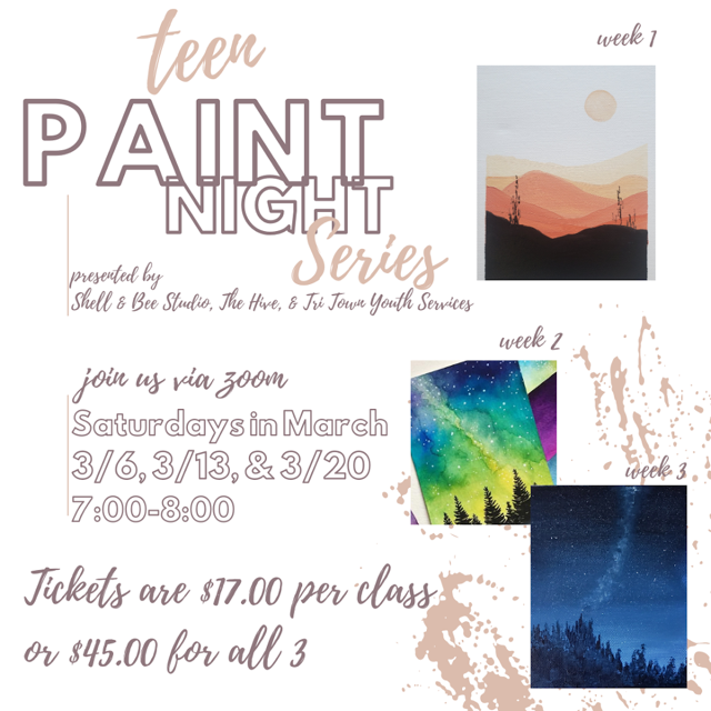Online Teen Paint Night Series