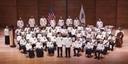 U.S. Coast Guard Band with the winners of its annual Young Artist Competition; Sunday, June, 3, 2012