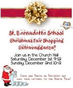 St. Bernadette School Christmas Fair; Saturday, December, 1, 2012