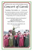 Concert of Carols; Sunday, November, 25, 2012