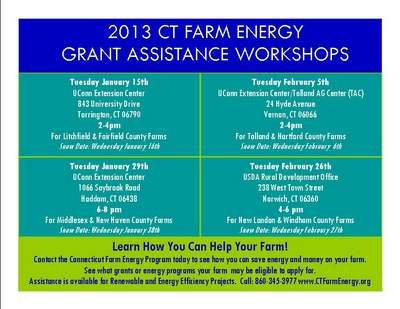 2013 CT Farm Energy Grant Assistance Workshops