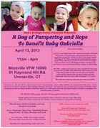 A Day of Pampering and Hope To Benefit Baby Gabriella - Vendor Event; Saturday, April, 13, 2013